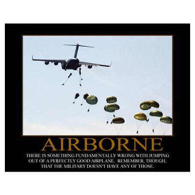 """Airborne Motivational"" Poster"