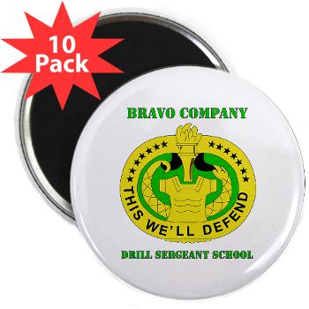 "BCDSS - M01 - 01 - DUI - Bravo Co - Drill Sgt School with Text 2.25"" Magnet (10 pack)"