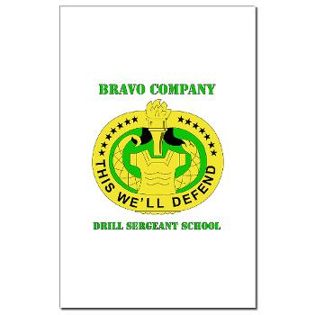 BCDSS - M01 - 02 - DUI - Bravo Co - Drill Sgt School with Text Mini Poster Print