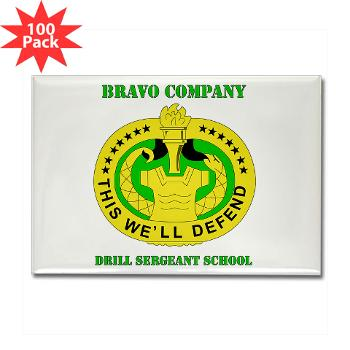 BCDSS - M01 - 01 - DUI - Bravo Co - Drill Sgt School with Text Rectangle Magnet (100 pack)