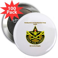 "BHHTS - M01 - 01 - DUI - Brigade Headquarters Headquarters Troop - ""Saber"" with Text 2.25"" Button (100 pack)"