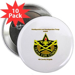 "BHHTS - M01 - 01 - DUI - Brigade Headquarters Headquarters Troop - ""Saber"" with Text 2.25"" Button (10 pack)"