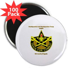 "BHHTS - M01 - 01 - DUI - Brigade Headquarters Headquarters Troop - ""Saber"" with Text 2.25"" Magnet (100 pack)"