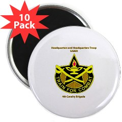 "BHHTS - M01 - 01 - DUI - Brigade Headquarters Headquarters Troop - ""Saber"" with Text 2.25"" Magnet (10 pack)"