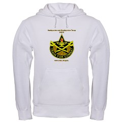 "BHHTS - A01 - 03 - DUI - Brigade Headquarters Headquarters Troop - ""Saber"" with Text Hooded Sweatshirt"