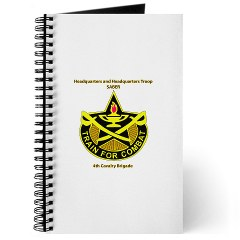 "BHHTS - M01 - 02 - DUI - Brigade Headquarters Headquarters Troop - ""Saber"" with Text Journal"