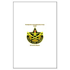 "BHHTS - M01 - 02 - DUI - Brigade Headquarters Headquarters Troop - ""Saber"" with Text Large Poster"
