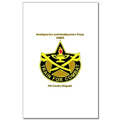 "BHHTS - M01 - 02 - DUI - Brigade Headquarters Headquarters Troop - ""Saber"" with Text Mini Poster Print"