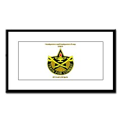 "BHHTS - M01 - 02 - DUI - Brigade Headquarters Headquarters Troop - ""Saber"" with Text Small Framed Print"