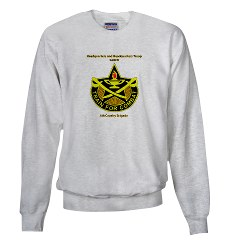 "BHHTS - A01 - 03 - DUI - Brigade Headquarters Headquarters Troop - ""Saber"" with Text Sweatshirt"