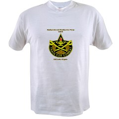 "BHHTS - A01 - 04 - DUI - Brigade Headquarters Headquarters Troop - ""Saber"" with Text Value T-Shirt"