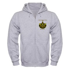 "BHHTS - A01 - 03 - DUI - Brigade Headquarters Headquarters Troop - ""Saber"" with Text Zip Hoodie"