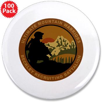 "BRB - M01 - 01 - DUI - Beckley Recruiting Bn 3.5"" Button (100 pack)"