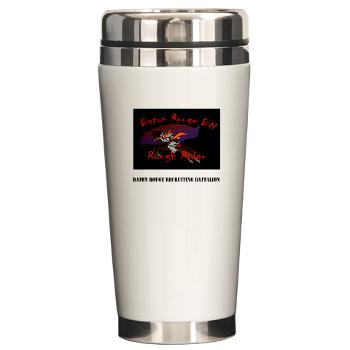 BRRB - M01 - 03 - DUI - Baton Rouge Recruiting Battalion with Text - Ceramic Travel Mug