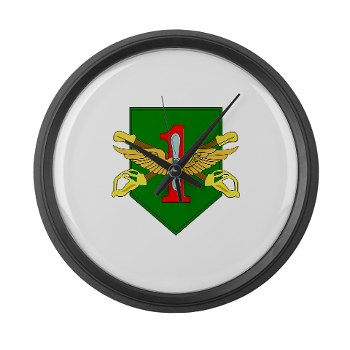CABDB - M01 - 03 - DUI - Combat Aviation Bde - Demon Brigade Large Wall Clock