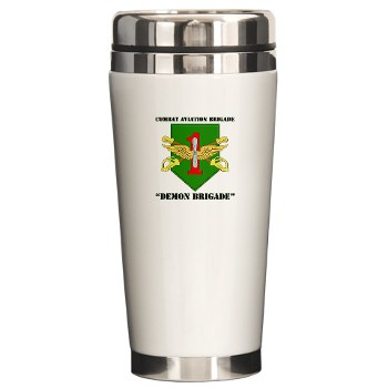CABDB - M01 - 03 - DUI - Combat Aviation Bde - Demon Brigade with Text Ceramic Travel Mug