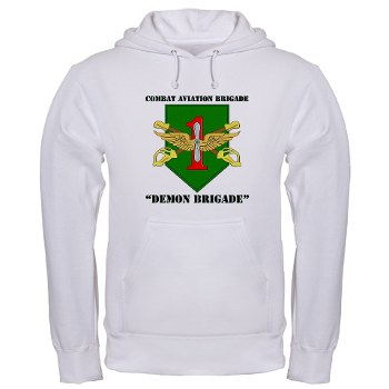 CABDB - A01 - 03 - DUI - Combat Aviation Bde - Demon Brigade with Text Hooded Sweatshirt