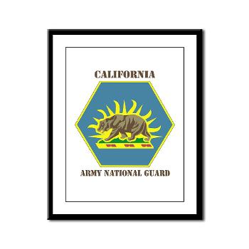 CALIFORNIAARNG - M01 - 02 - DUI - California Army National Guard with text - Framed Panel Print