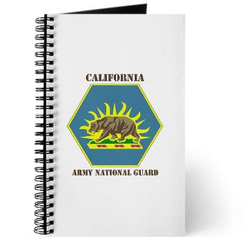 CALIFORNIAARNG - M01 - 02 - DUI - California Army National Guard with text - Journal