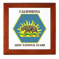 CALIFORNIAARNG - M01 - 03 - DUI - California Army National Guard with text - Keepsake Box