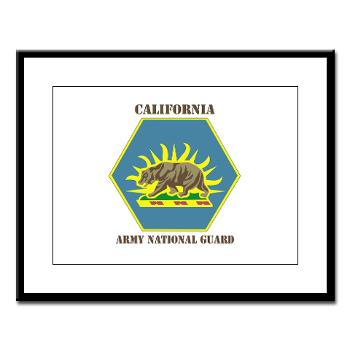 CALIFORNIAARNG - M01 - 02 - DUI - California Army National Guard with text - Large Framed Print