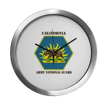 CALIFORNIAARNG - M01 - 03 - DUI - California Army National Guard with text - Modern Wall Clock