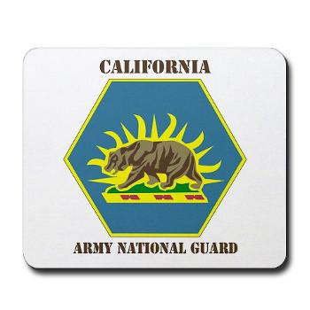 CALIFORNIAARNG - M01 - 03 - DUI - California Army National Guard with text - Mousepad