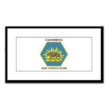 CALIFORNIAARNG - M01 - 02 - DUI - California Army National Guard with text - Small Framed Print
