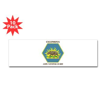 CALIFORNIAARNG - M01 - 01 - DUI - California Army National Guard with text - Sticker (Bumper 10 pk)