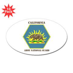 CALIFORNIAARNG - M01 - 01 - DUI - California Army National Guard with text - Sticker (Oval 10 pk)