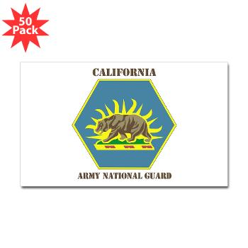 CALIFORNIAARNG - M01 - 01 - DUI - California Army National Guard with text - Sticker (Rectangle 50 pk)