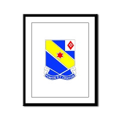 CC52IR - M01 - 02 - DUI - C Company - 52nd Infantry Regt - Framed Panel Print
