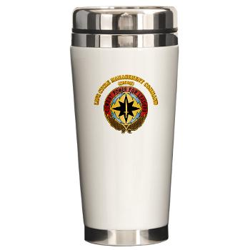 CECOM - M01 - 03 - Life Cycle Mgmt Cmd - CECOM with Text - Ceramic Travel Mug