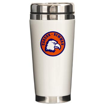 CNC - M01 - 03 - SSI - ROTC - Carson-Newman College - Ceramic Travel Mug