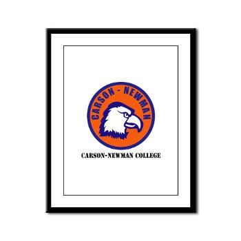 CNC - M01 - 02 - SSI - ROTC - Carson-Newman College with Text - Framed Panel Print