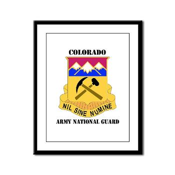 COLORADOARNG - M01 - 02 - DUI - Colorado Army National Guard With Text - Framed Panel Print