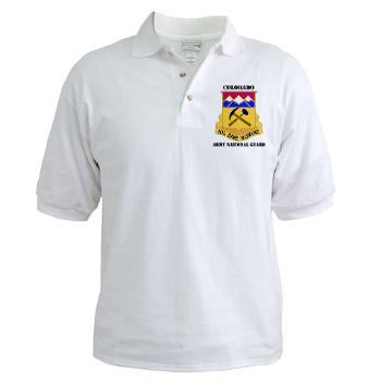 COLORADOARNG - A01 - 04 - DUI - Colorado Army National Guard With Text - Golf Shirt