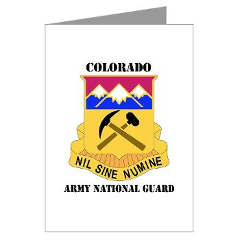 COLORADOARNG - M01 - 02 - DUI - Colorado Army National Guard With Text - Greeting Cards (Pk of 20)