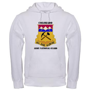 COLORADOARNG - A01 - 03 - DUI - Colorado Army National Guard With Text - Hooded Sweatshirt