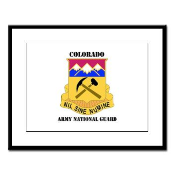 COLORADOARNG - M01 - 02 - DUI - Colorado Army National Guard With Text - Large Framed Print