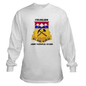 COLORADOARNG - A01 - 03 - DUI - Colorado Army National Guard With Text - Long Sleeve T-Shirt