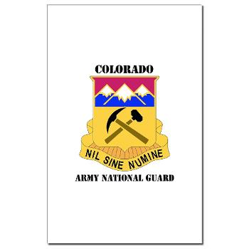 COLORADOARNG - M01 - 02 - DUI - Colorado Army National Guard With Text - Mini Poster Print