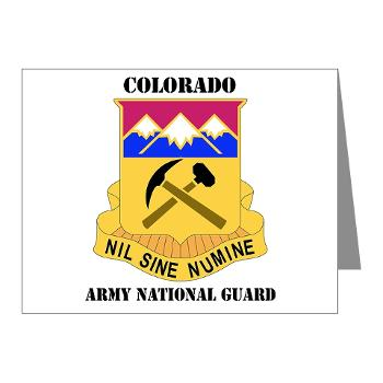 COLORADOARNG - M01 - 02 - DUI - Colorado Army National Guard With Text - Note Cards (Pk of 20)