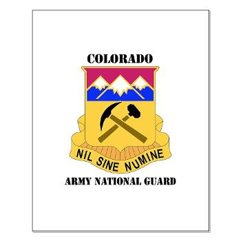 COLORADOARNG - M01 - 02 - DUI - Colorado Army National Guard With Text - Small Poster