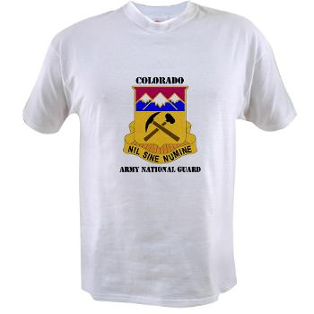 COLORADOARNG - A01 - 04 - DUI - Colorado Army National Guard With Text - Value T-shirt