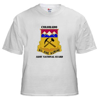 COLORADOARNG - A01 - 04 - DUI - Colorado Army National Guard With Text - White t-Shirt