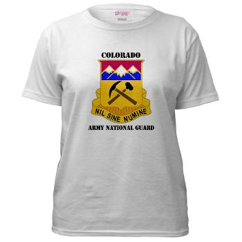 COLORADOARNG - A01 - 04 - DUI - Colorado Army National Guard With Text - Women's T-Shirt