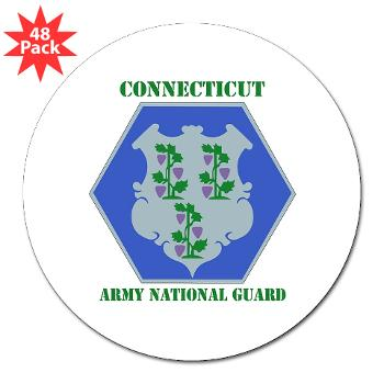 "CONNECTICUTARNG - M01 - 01 - DUI - Connecticut Army National Guard with text 3"" Lapel Sticker (48 pk)"