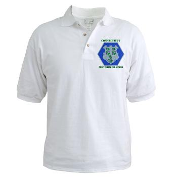 CONNECTICUTARNG - A01 - 04 - DUI - Connecticut Army National Guard with text Golf Shirt