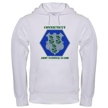 CONNECTICUTARNG - A01 - 03 - DUI - Connecticut Army National Guard with text Hooded Sweatshirt